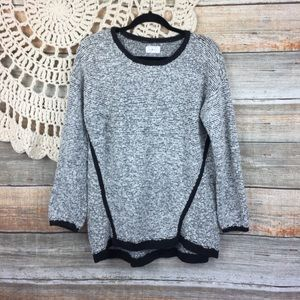 Lou & Grey | Fuzzstripe Wool Blend Tunic Sweater